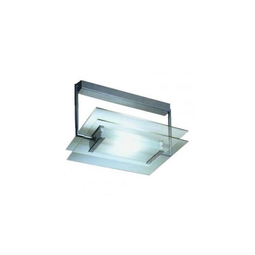 Gaga Lamp Design Halogen / LED Wand- und Deckenleuchte Glasbaustein Maxi max. 100W alu grau Bild 3