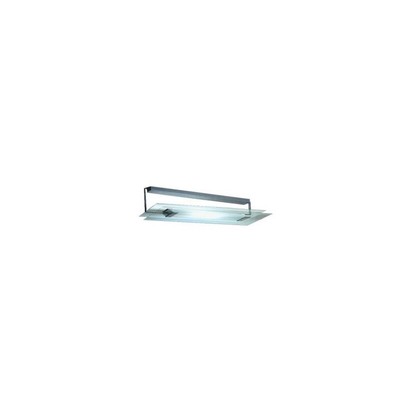 CLE Halogen Wand- und Deckenleuchte Glasbaustein II 8W alu grau