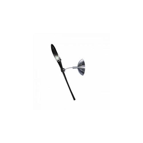 CLE Objekt Design Wandleuchte Lily Wall 35W 230V Glas schwarz