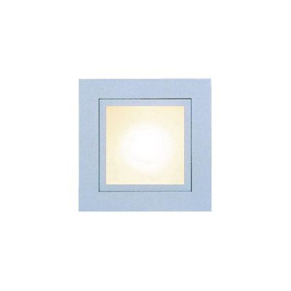 CLE LED Wandeinbauleuchte YK Quattro Square LED HV alu grau