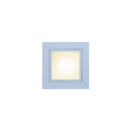 CLE LED /Halogen Wand  Deckeneinbauleuchte YK Quattro Square max. 1x 35W alu grau