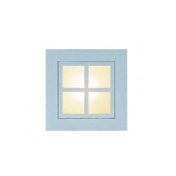 CLE YK Quattro Square Window WANDEINBAULEUCHTE alu grau
