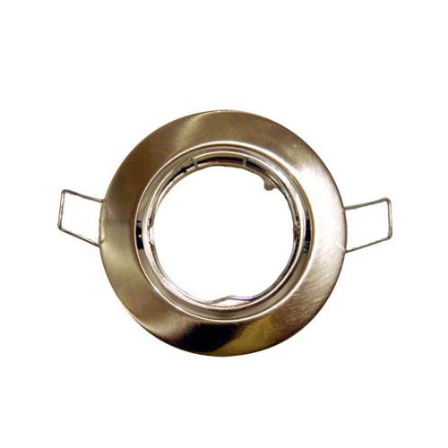 Einbauleuchte für Halogenlampe MR16 FLACH chrom -matt kippbar D:85mm