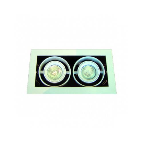CLE KARDAN - YK 12 Einbauleuchte 2x 50W GX5,3 alu -*A