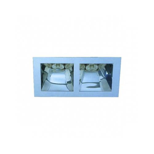 CLE  YK12-M-G24 EBL 2x 13W G24d1 inkl. VVG alu