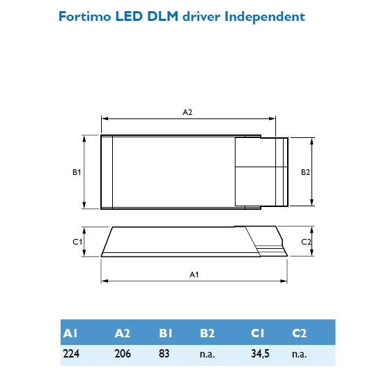Philips FORTIMO LED MODUL DRIVER 1100-2000 /I, mit Zugentlastung -*N – Bild 2