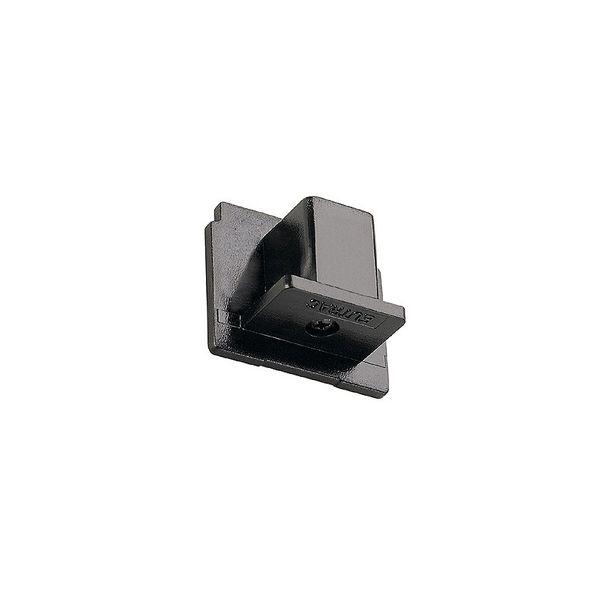 SLV EUTRAC Endkappe für 3-Phasen Aufbauschiene, schwarz