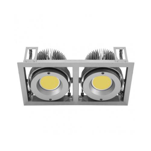 CLE Kardan Einbauleuchte YK2 für 2x Fortimo DLM LED 1100-3000 Lumen alu grau