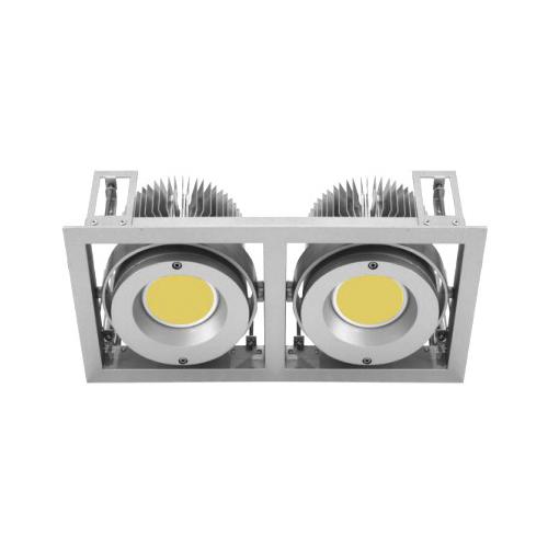 CLE Kardan Einbauleuchte YK2 für 2x Fortimo DLM LED 1100-3000 Lumen weiss