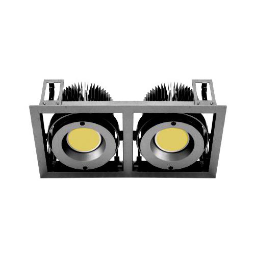 CLE Kardan Einbauleuchte YK2 für 2x Fortimo DLM LED 1100-3000 Lumen schwarz