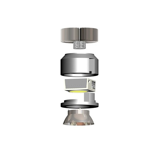 CLE Adapter für kardanische Leuchten für Philips FORTIMO DLM LED mit Reflektoraufsatz schwarz – Bild 4