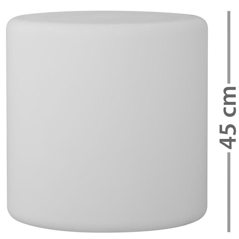 Zylinderleuchte SIT IN Lichtobjekt  E27 20W weiss opal matt