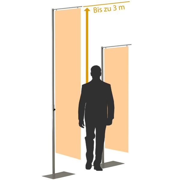 CLE Poster Display silbergrau Grafikständer Werbebanner Werbemittel