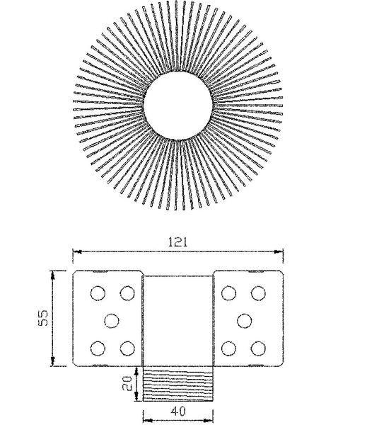 CLE Heatpipe-System für Philips FORTIMO DLM LED CLE Kühlleistung > 25W alu – Bild 2