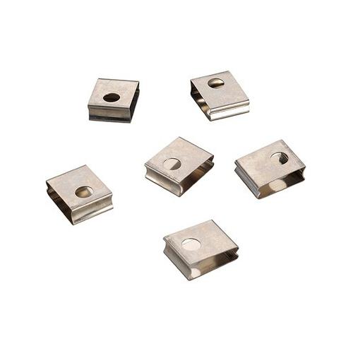 SLV EUTRAC Federclip für 3 Phasen Einbauschiene, weiss ( 6er Pack )