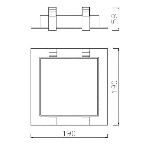 CLE Einbausystem YK-1 XBOX für Fortimo LED 1100-3000Lumen silbergrau – Bild 2