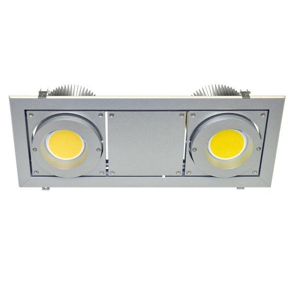 CLE Einbausystem YK-3 XBOX Fortimo LED 1100-3000Lumen silbergrau