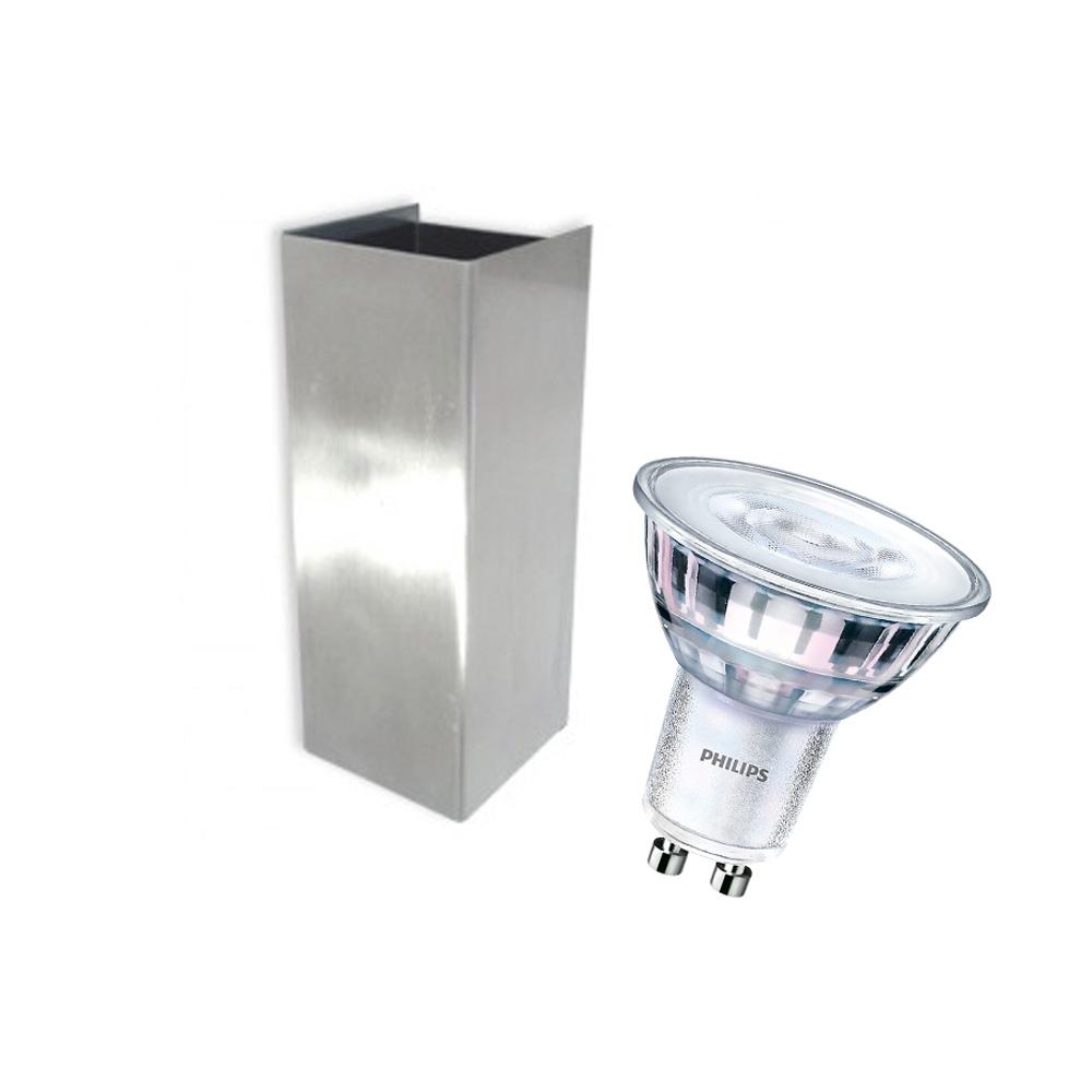 CLE LED ALUTEC Wandleuchte Box 2 2x 5W 2700K 230V silber