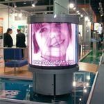 360 GRAD Multi-Screen Rund Vision LED TV Display Litfass Indoor 3x 1,18m x 0.96m, Bildfläche 3,4m²