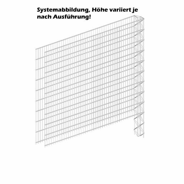 Triooo Gabione 163cm Systemwand 23cm Erweiterungselement
