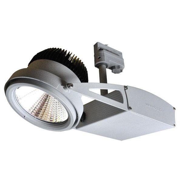 CLE Schienenstrahler ST55 SLM 60 Grad für Fortimo LED 2000-5000lm alu grau