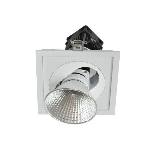 CLE Einbauleuchte POWERSTAR SLM-DM Quadro I für Fortimo LED bis 5000lm weiss