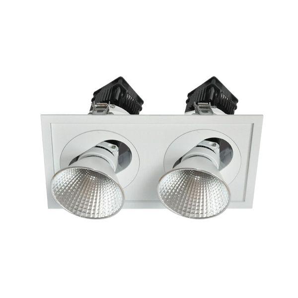 CLE Einbauleuchte POWERSTAR SLM-DM Quadro II für 2x Fortimo LED bis 5000lm weiss