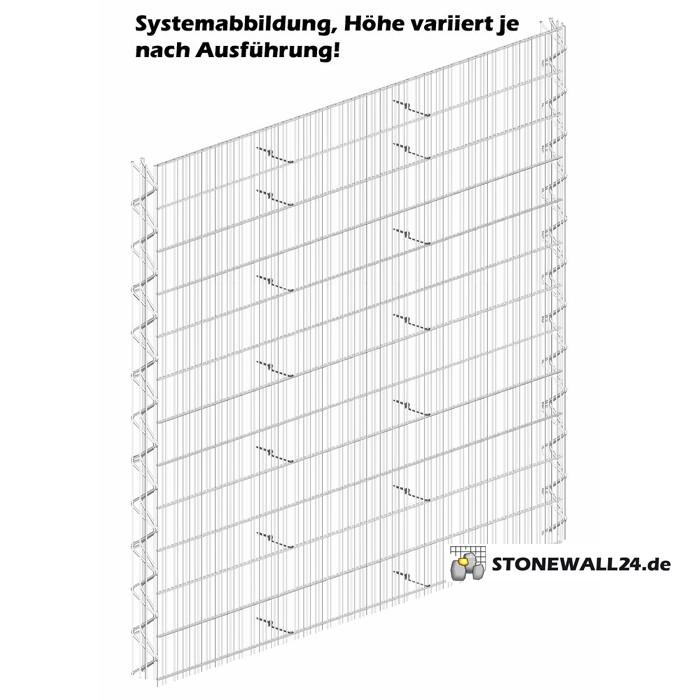 Triooo Gabione 60cm System Steinfassade 12,5cm Grundelement