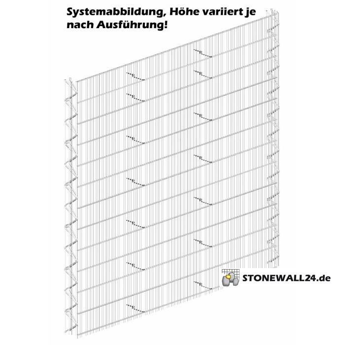 Triooo Gabione 100cm System Steinfassade 12,5cm Grundelement