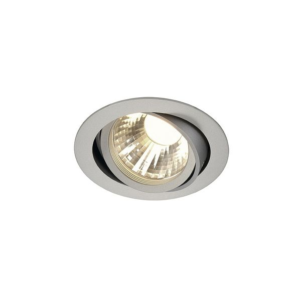 SLV NEW TRIA LED DISK, Downlight rund, silber, 2700K, 35°