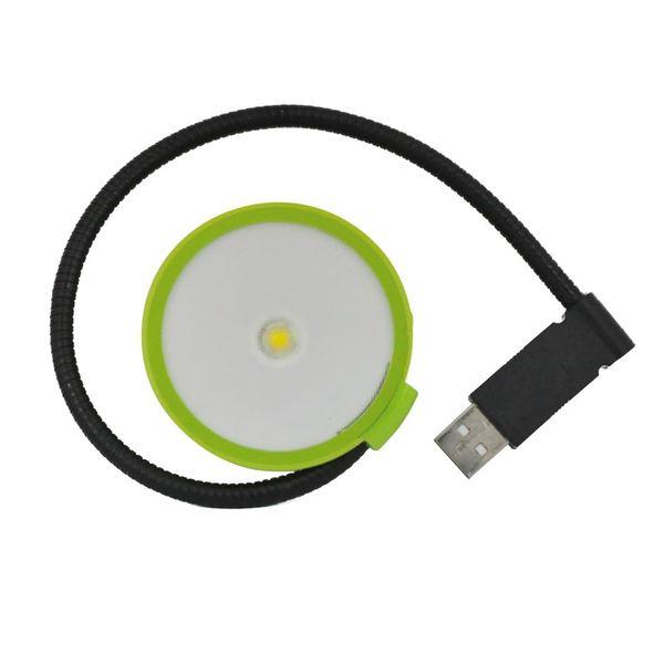 CLE LED Leseleuchte Leselampe superhell LAPTOP Geschenktip grün mit USB Stecker
