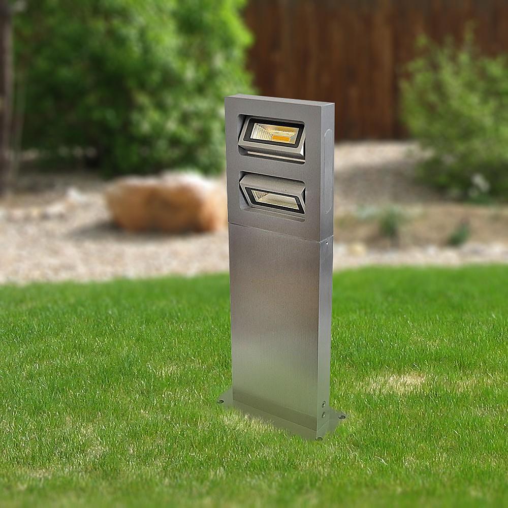 Gaga Lamp Design ALUTEC Design Wegeleuchte I Outdoor 2x 3W Citizen LED warmweiss