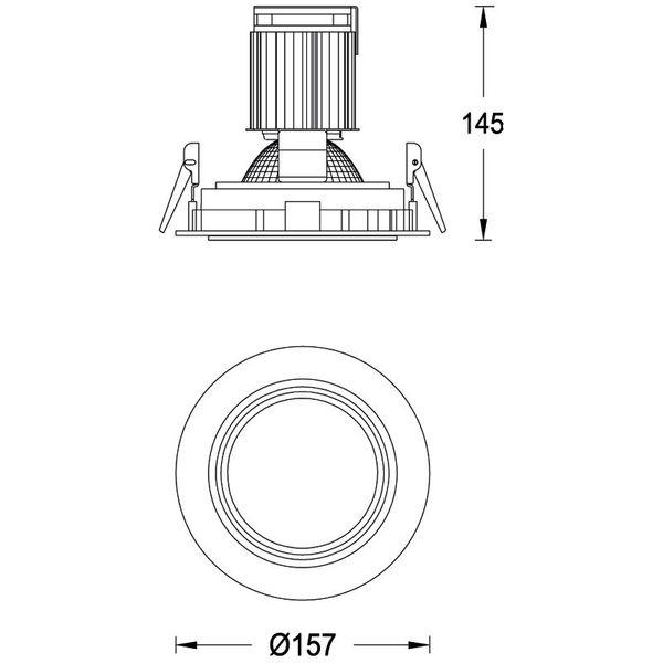 CLE Einbauleuchte SLM-DM Round für Fortimo LED bis 5000lm weiss – Bild 3