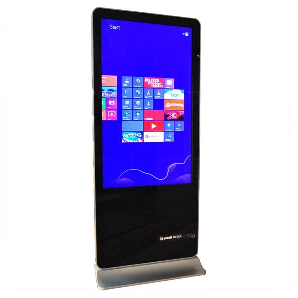 PlentiMedia Stand TouchDisplay Pro 55 Zoll Mega Smart-Phone look Touchscreen Monitor Digital Signage