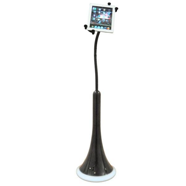 CLE iStatic Tablet Ständer schwarz mit USB Anschluss und Nachtlicht für Ipad i-Static