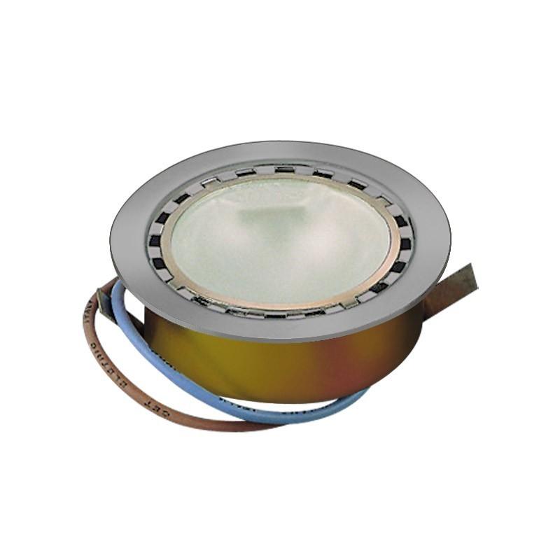 CLE Möbeleinbauleuchte LED 1x 1W inkl. Trafo 3000K nickel satiniert
