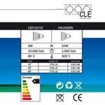 CLE LED 2x 6W Kardan Einbauleuchte YK2-HV 230V