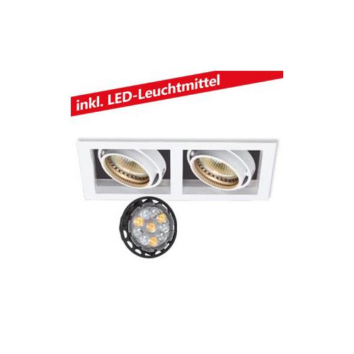 CLE LED 2x 6W Kardan Einbauleuchte YK2-HV 230V weiss