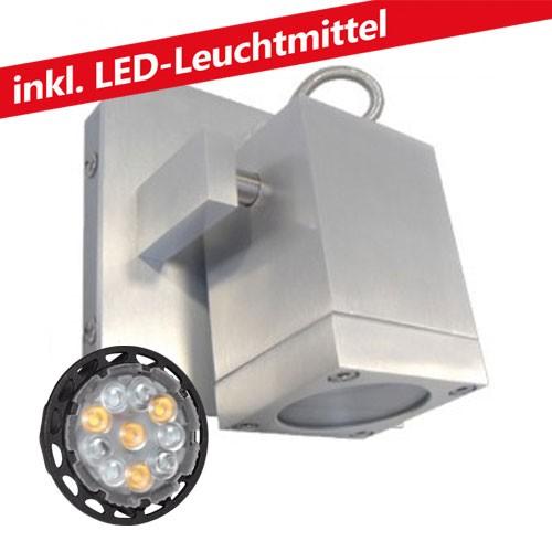CLE ALUTEC LED 6W Wandleuchte BOK08 schwenkbar 230V alu