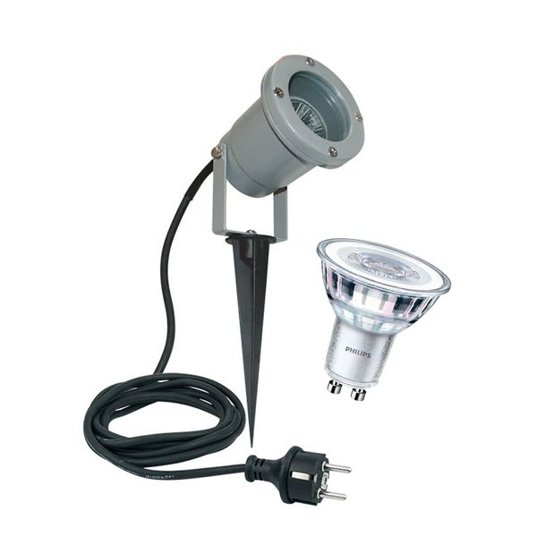 CLE NAUTILUS LED Wege-und Bodeneinbauleuchte mit 5W GU10 220-240V grau Erdspießstrahler neu