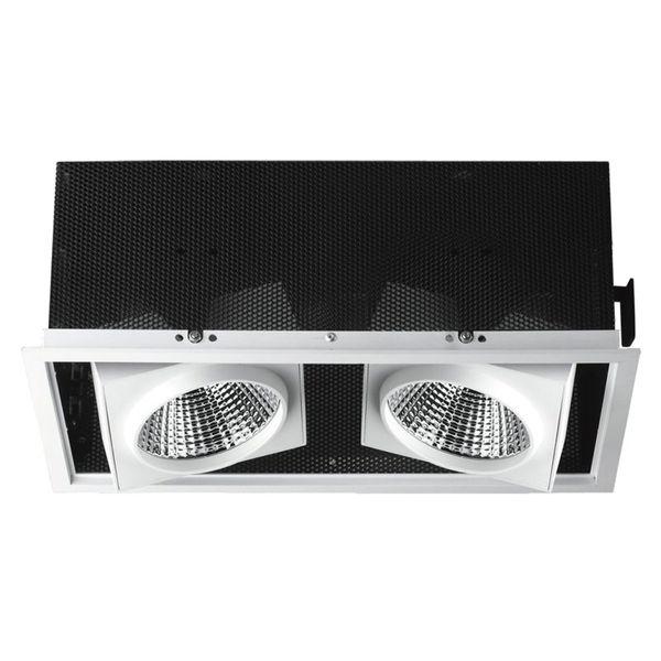 CLE Einbauleuchte SLM-DM Quadro II 36° für 2x Fortimo LED bis 3000lm passiv weiss