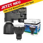 CLE Stromschienen LED Wegeleuchte 6W Master LED GU10 3000K 230V schwarz