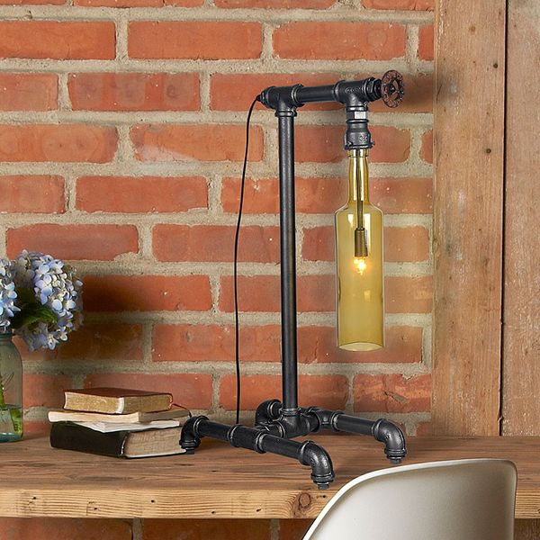 GaGa Lamp Steam-Punk Design Retro Tischleuchte Wasserflasche Waterpower No.1 Bild 1