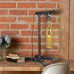 GaGa Lamp Steam-Punk Design Retro Tischleuchte Wasserflasche Waterpower No.1