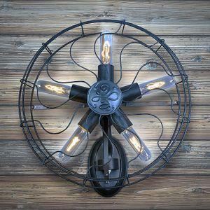 GaGa Lamp Steam-Punk Design Retro Wandleuchte Airpower No.5