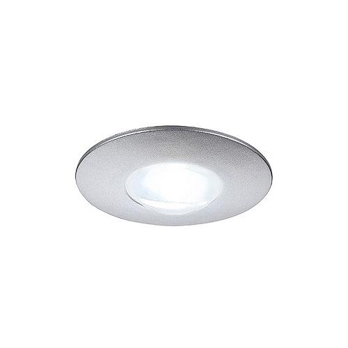 SLV DEKLED Einbauleuchte, rund, silber metallic, 1W LED, weiss, 4000K