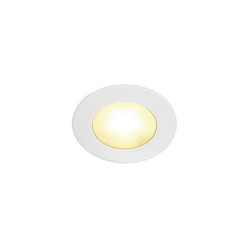 SLV Downlight, DL 126 LED, rund, weiss, 3W LED, warmweiss, 12V
