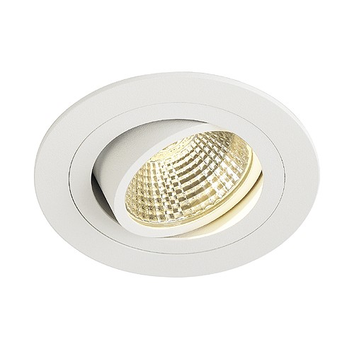 SLV NEW TRIA LED DL ROUND Set, Downlight, mattweiss, 6W, 38°, 3000K, inkl. Treiber, Clipfed.