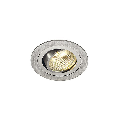 SLV NEW TRIA LED DL ROUND Set, Downlight, alu-brushed,6W,38°, 3000K, inkl. Treiber, Clipfed.
