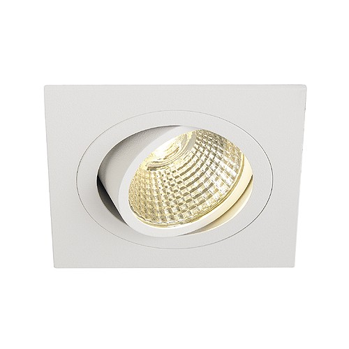SLV NEW TRIA LED DL SQUARE Set, Downlight, mattweiss, 6W, 38°, 3000K, inkl. Treiber, Clipfed.